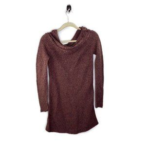 Peruvian Connection Slouchy Neck Knitted Dress S